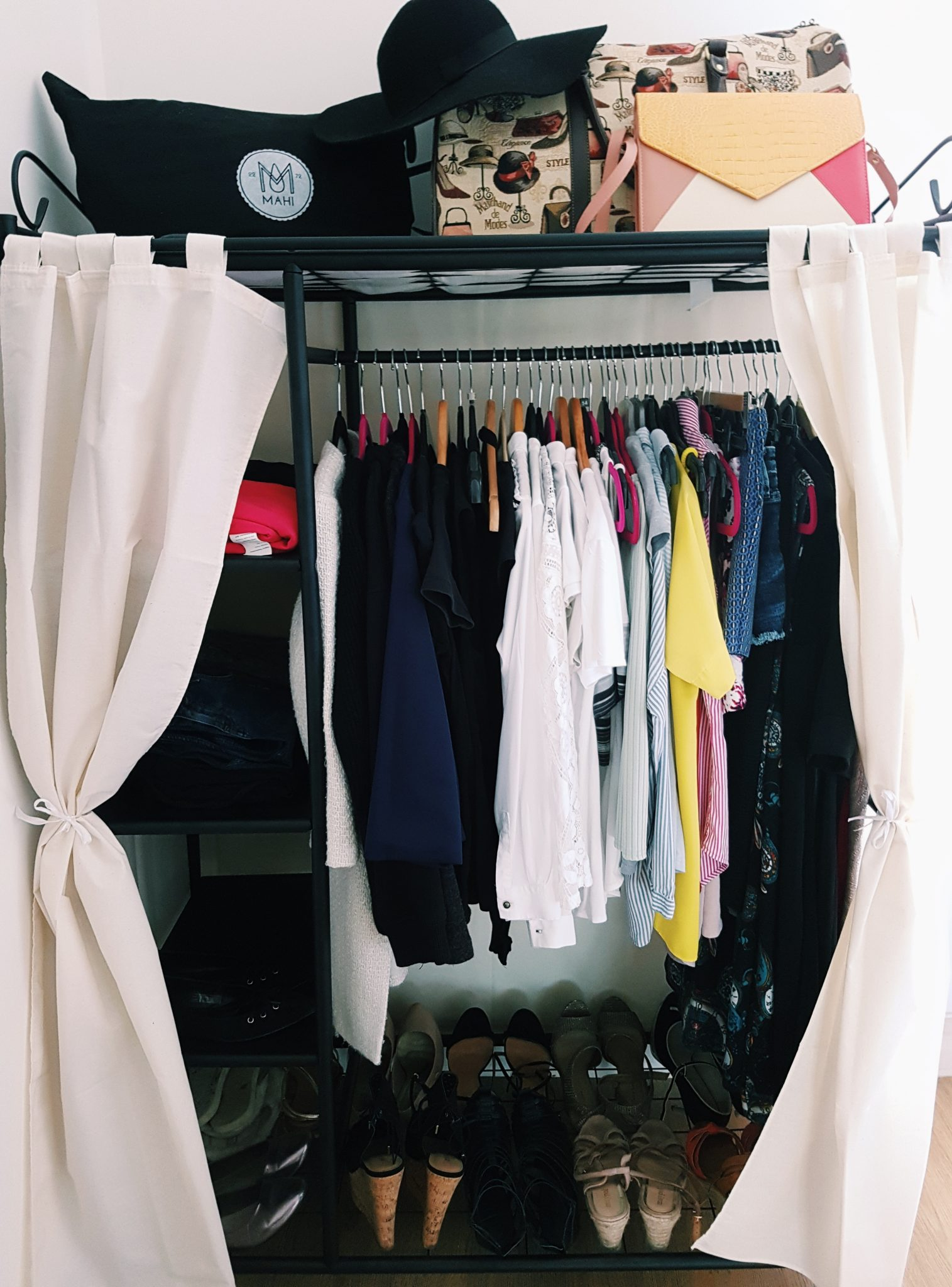 Inside a wardrobe with shoes
