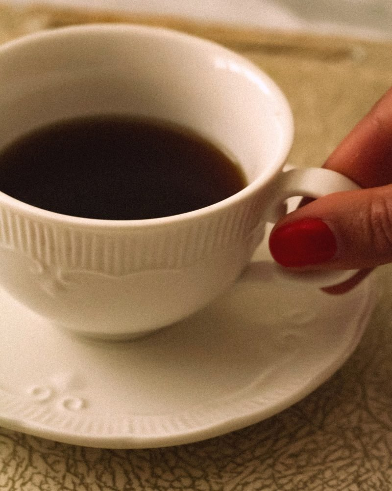 Image of coffee in a white cup for blog on mental health stigma