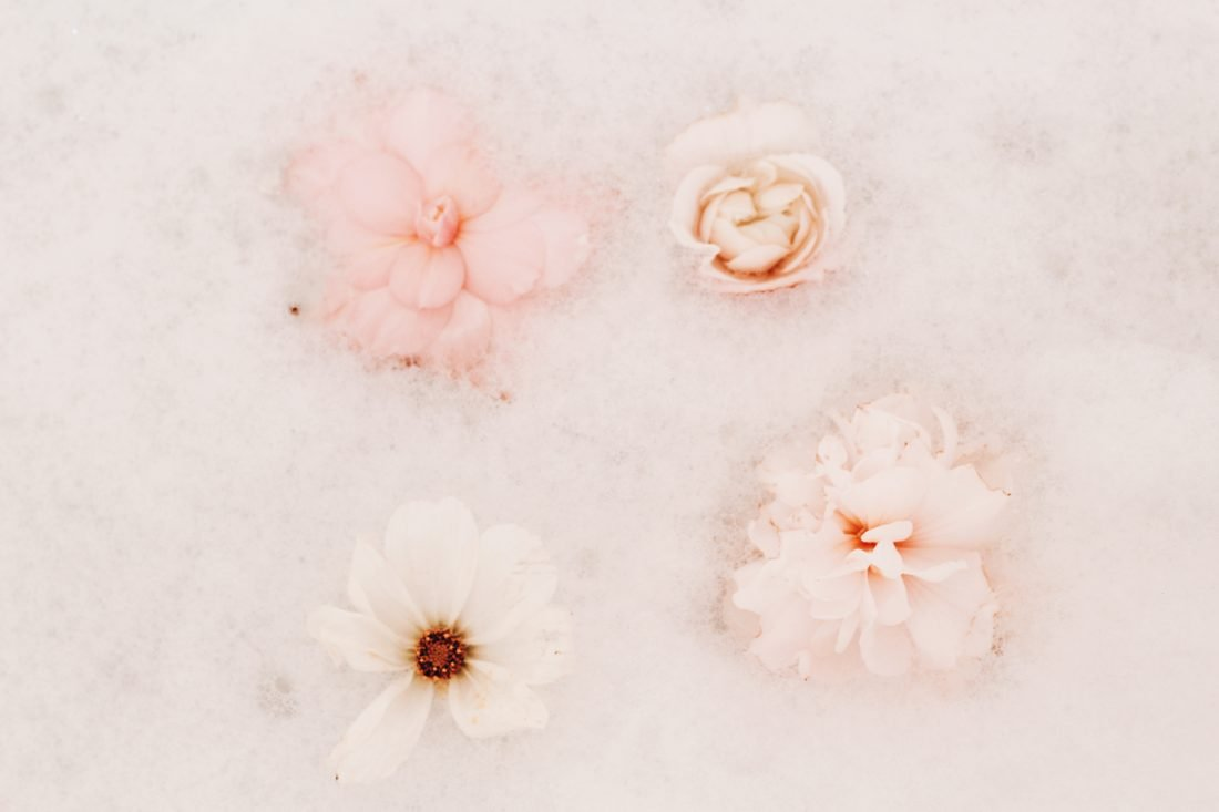 pic of flowers in bubble bath for post on control who you have feelings for