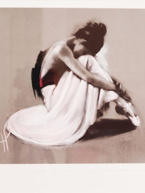 painting of ballet dancing on the floor - blog post on feeling bored on a date