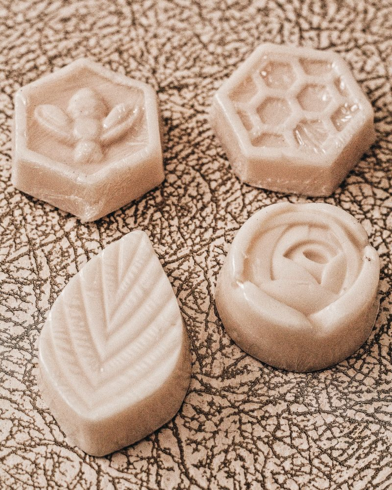 Picture of hand-made soaps for blog on sustainable dating