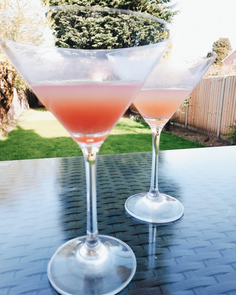 Image of two cocktails in garden for blog on when a friend becomes annoying