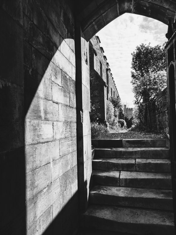 Image of lonely street with steps for blog on when someone ghosts
