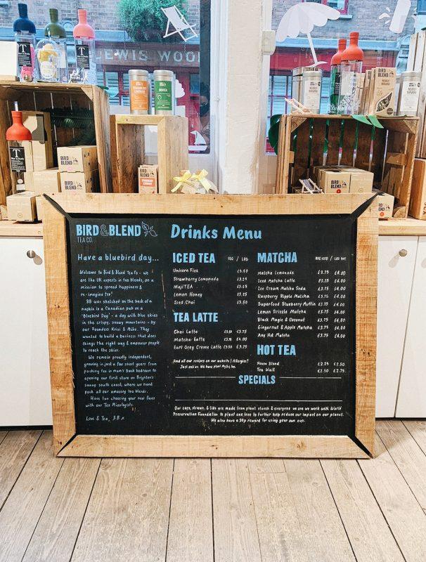 Menu at Bird & Blend Tea Co - Unique Date Ideas
