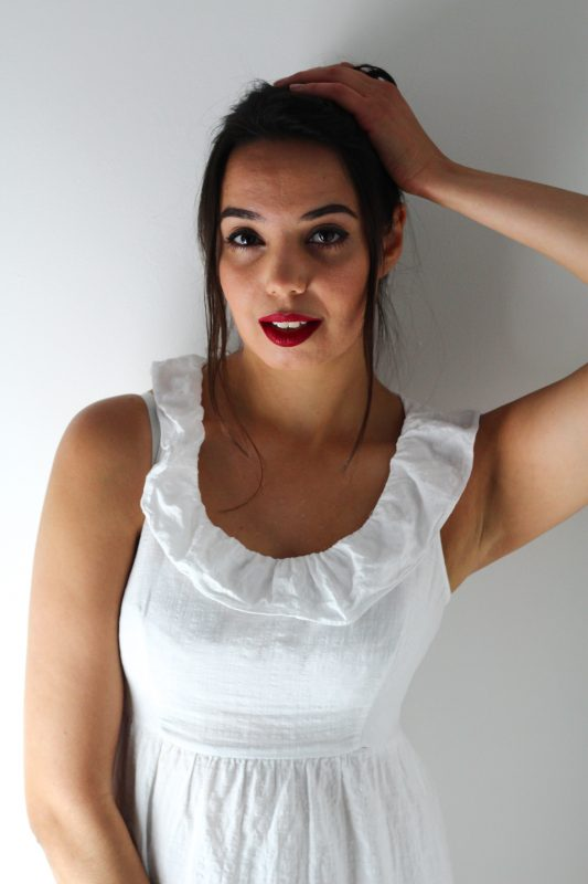 Image of girl in white dress for blog on what to do when you don't like your partner's style - The Style of Laura Jane