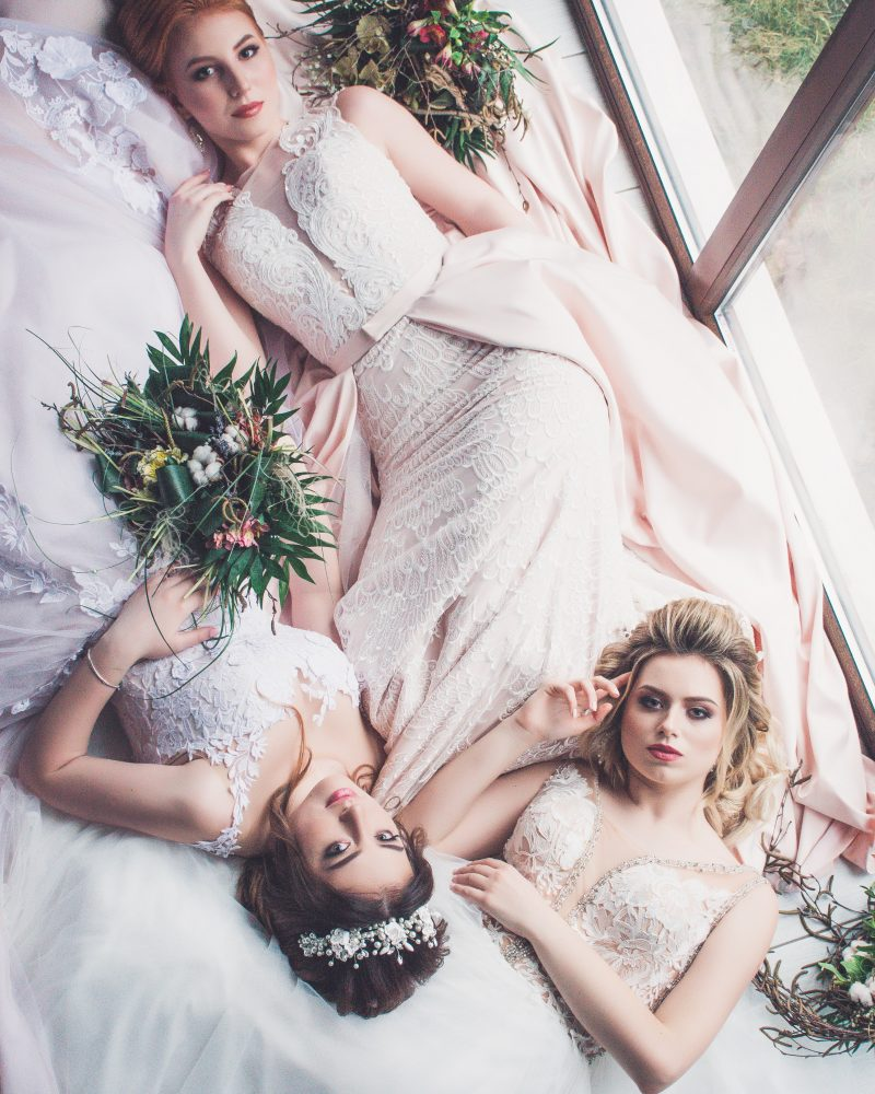 Image of three brides for blog on monogamy - The Style of Laura Jane